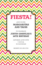 Bright Multicolored Fiesta Chevrons Invitations