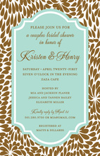 Tiffany Leaves Invitations