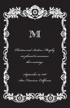 Perfect Divine Frame Black Invitations
