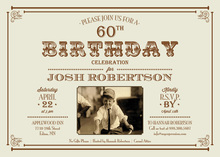 Vintage Milestone Birthday Invitations