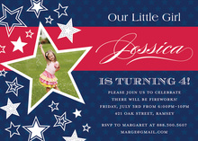 American Girl Birthday Photo Birthday Invitations