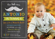 Our Little Man Mustache Bash Chalkboard Invitations