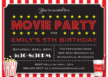 Movie Party Essentials Party Invitation