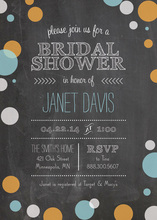 Chalkboard Celebration Polka Dots Border Invitations