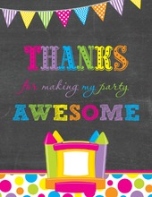 Bright Bunting Bounce House Thank You Notes