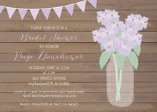 Lavender Hydrangeas Wood Planks Invitations
