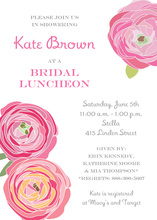 Red Pink Flower Bridal Shower Invitations