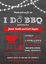 I Do BBQ Lights Red Wedding Invitations