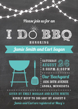 I Do BBQ Lights Turquoise Wedding Invitations
