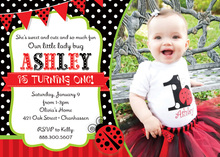 Cute As Lady Bug Photo Birthday Invitations