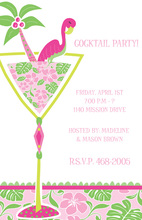 Flamingo Tropical Cocktail Invitations