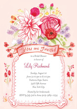 Floral Whimsy Hand Painted Wedding Invitations