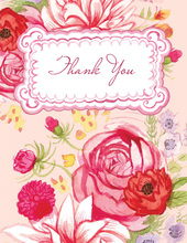 Floral Whimsy Thank You Cards
