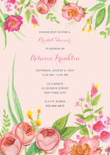 Bridal Blossoms Multi-colored Floral Bridal Invitations