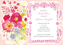 Sophisticated Vintage Floral Modern Wedding Invitations