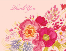 Vintage Floral Thank You Cards