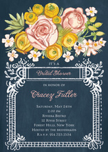 Beautiful Lush Floral Whimsical Jar Wedding Invitations