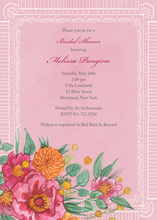 Wildflower Wedding Multi-color Floral Wedding Invites