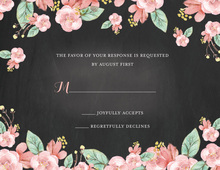 Chalkboard Floral Response Card