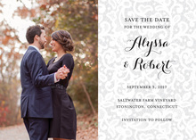 Chantilly Lace Photo Save the Date Cards