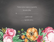 Elegant Bouquet Response Card
