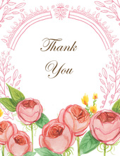 English Rose Garden Thank You Cards