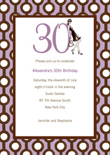 30th Birthday Soiree Invitation