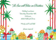 Tropical Coastal Presents Invitation