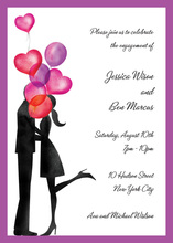 Balloon Love Couple Shower Invitations