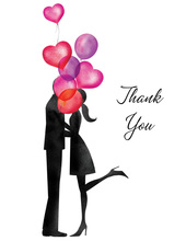 Balloon Love Thank You Cards