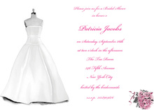 Bridal Dress Formal Party Invitations