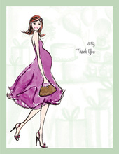 Baby Shower Soiree Thank You Cards