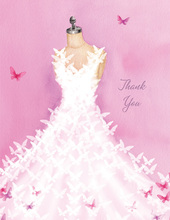 Butterfly Dress Thank You Cards