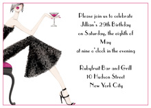 Cocktail Petite Girl Invitation