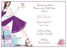 Fashionable Chic Bride Showing Her Love Invitations