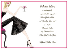 Cocktail Petite Girl Blonde Invitations