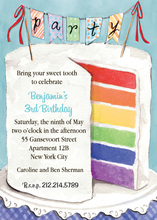 Colorful Party Cake Invitation