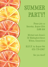 Refreshing Summer Citrus Invitation