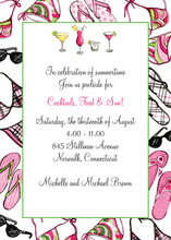 Cocktail Pool Party Bathing Suit Invitations