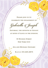 Elegant Chic Floral Yellow Bridal Shower Invitations
