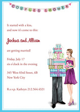Couples Shower Banner Bridal Shower Invitations