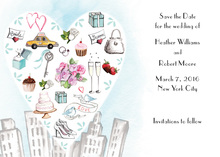 City Love Style Invitation