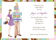 Fashionable Couple Baby Shower Invitation