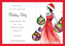Dancing Ornaments Invitation