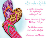 Fashionable Summer Flip Flops Invitation