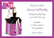 Fashionable Party Girl Invitations