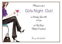 Fashion Girls Night Out Invitations