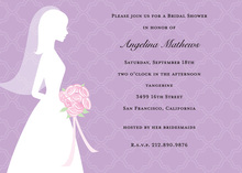 I Do Silhouette Bridal Shower Invitations