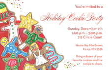 Holiday Cookie Party Invitations