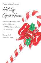 Decorated Candy Cane Invitations